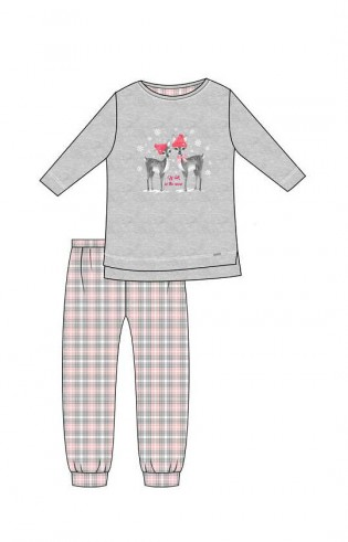 Piżama Cornette Kids Girl 780/93 Winter Day dł/r 86-128